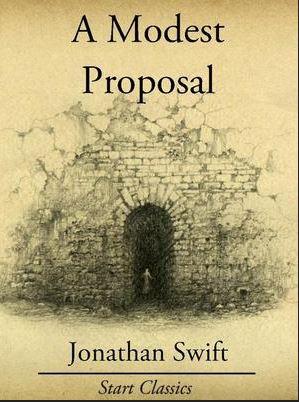 jonathan swift. a modest proposal. writer. author.